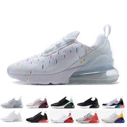 Zapatos corrientes de las nuevas mujeres online-Nuevas llegadas 2018 diseñador Nike air max 270 hombres zapatos negro triple blanco cojín de aire para hombre zapatillas de deporte atletismo entrenadores zapatillas de deporte tamaño 36-45