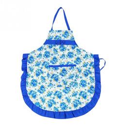 Tasche ristorante online-Nuovo stile donne Lady Restaurant Home cucina per Pocket Cottura Grembiule cotone modello di fiore bavaglino