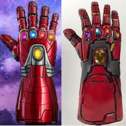 Мстители Эндшпиль Железный Человек Рукавицы Бесконечности Косплей Рука Танос Латексные перчатки Оружие Маски супергероя Оружие Реквизит Новый Дропшиппинг от
