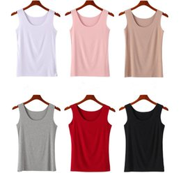 pink crop tank top Promo Codes - Crop Tops Women White Tank Tops Fitness Bottoming Cotton 2019 Spring and Summer Clothing Pink Black Khaki Plus Size M L XL XXL