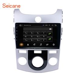 Radios kia forte online-Navegación GPS Quad-core de 9 pulgadas con Android 8.1 Radio de coche para 2008-2012 KIA Forte (MT) con Bluetooth Música WIFI USB compatible con 1080P Video DVR SWC
