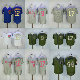 e79a7a282b0 Chinese Men's Chicago 44 Anthony Rizzo Jerseys 9 Javier Baez 12 Kyle