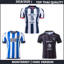 Casa monterrey online-Monterrey 2019 Copa Mundial de Clubes camiseta de fútbol 2019 2020 hombres J.URRETAVISCAYA V.JANSSEN camiseta de la primera tercera de fútbol de manga larga y manga corta