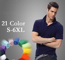 camisetas polo Coupons - Men s Small horse Polo Homme Shirt USA Brand Logo knitted cotton male Short Sleeve Polos t-Shirts Masculina plus Size camisetas hombre S-6XL