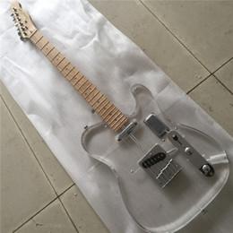 2019 guitarra electrica led de iluminacion Envío gratuito acrílico tele cuerpo luz LED diapasón guitarra eléctrica Tele Guitarra guitarra electrica led de iluminacion baratos
