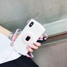 2019 bolsos de la cámara iphone Bolsas de teléfonos móviles Estuches para el modelo de la cámara del polvo de Shimmering Hot Sling phone COVER case para iphone 7 7 plus bolsos de la cámara iphone baratos