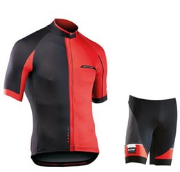 marcas de ropa mtb Rebajas Juego de jersey de ciclismo de secado rápido 2019 NW Brand MTB Road Bicycle Clothing Ropa de ciclismo de montaña transpirable Juego de ciclismo