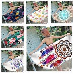 grandi bikini Sconti Asciugamano da bagno 3D Large Microfiber Acchiappasogni Flamingo Asciugamani da spiaggia Skull Rectangle Absorbent Bikini Cover-Up Mat Donne Costumi da bagno Regali