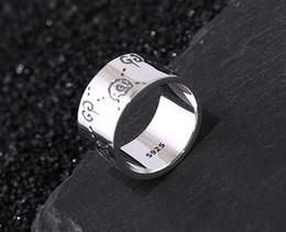 joyas de oro 18k Rebajas Italia Diseñador nueva moda 925 plata esterlina Anillos Fantasma joyería de plata antigua hecha a mano hecha a mano de hip hop hombresS mujer gg anillo regalo