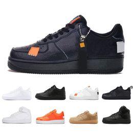 AIR Force 1 one forces High Low Cut utilitario negro Dunk Flyline 1 Zapatillas de baloncesto Clásico Hombres Mujeres Zapatillas de skate Zapatillas de deporte de trigo blanco Zapatillas deportivas desde fabricantes