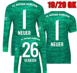 19 20 Manga larga Camisetas de fútbol de portero neuer verde Neuer 2019 2020 Ulreich Keeper Portero Bayern Munich JAMES Camisetas de fútbol desde fabricantes