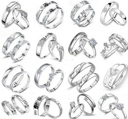 2019 sterling silber kreuz ringe frauen Engagement / Hochzeit 925 Sterling Silber Ring Herz Frauen Schmuck Kreuz Herren Paar Ringe MOQ 30 Stck günstig sterling silber kreuz ringe frauen