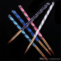 2019 Vente chaude - 5pcs / lot 2 voies acrylique Nail Art Pen pinceau cuticule Conseils Set H4565 Livraison gratuite 2019040308 ayq ? partir de fabricateur