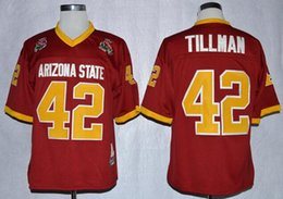 sole patch Sconti Mens NCAA Arizona State Sole Devis 42 Pat Tillman Jerseys Jerseys Maroon Asu Pat Tillman Vintage Football Shirts 1997 Rose Bowl Patch Mens