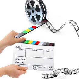 2019 filmati degli attrezzi Clapper Board Acrilico Dry Erase Director TV TV Film Clapboard Tools filmati degli attrezzi economici