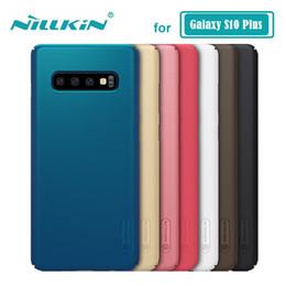 Étui nillkin en Ligne-Commerce de gros pour Samsung Galaxy S10 Plus S10 + Bouclier Dépoli Nillkin PC Couverture Arrière Dur pour Samsung S10 Plus