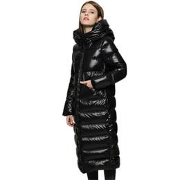 2019 женские белые лыжные куртки 2018 зимние женские пуховики 90% белая утка пуховики женщины Женская верхняя одежда теплый толстый фугу куртка Куртка YP2064