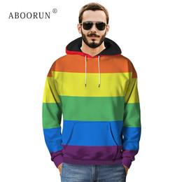 Argentina ABOORUN Hombres Moda Contraste Tie Dye Sudaderas 3D Impreso Sudadera Con Capucha Sudaderas Otoño Otoño Pullover para Hombre x2184 cheap tie dye sweatshirt xl Suministro