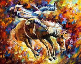 leonid afremov tela Desconto faca parede cavalo arte corridas pintados à mão pintura Leonid Afremov tela do artista reprodução da pintura de arte na parede do quarto moderno