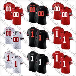 campo de fútbol Rebajas Mens Youth # 1 Justin Fields Cualquier nombre Cualquier número Personalizado OSU Ohio State Buckeyes Local Visitante Rojo Negro Blanco Personalizado Camisetas de fútbol de la universidad