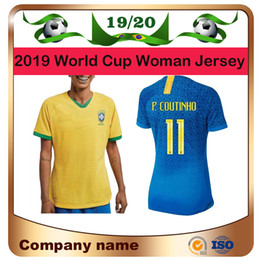 38efde35b 2019 camisa azul do brasil 2019 Copa do Mundo de Futebol Brasil Jersey Home  Amarelo longe
