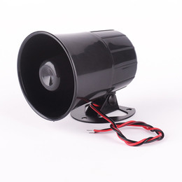security alarm siren Promo Codes - Car Van Truck 6 Tone Loud Security Alarm Siren Horn 12V Freight car alarm horn