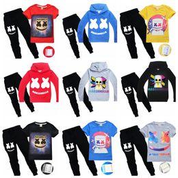 chaqueta de dj Rebajas Marshmello DJ Music Boy Clothing Set chaquetas superiores o camiseta + pantalones largos 2pcs niños niño trajes casuales niños ropa de algodón traje