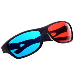 SZAICHGSI 10 pçs / lote Anaglyph Ciano Vermelho E azul Estilo Simples 3D Óculos jogo do filme 3D-Extra de Atualização Óculos de TV de