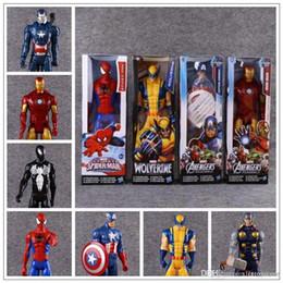 Ironman toy pvc online-7 Estilos 30 cm Capitán América Ironman Avengers Modelo PVC Figura de Acción de Superhéroe de Dibujos Animados Juguetes de Colección Artículos de Novedad CCA9572 200 unids