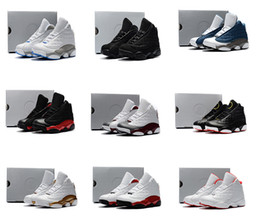 Детская обувь кошка онлайн-kids air jordan 13 кроссовки Black Cats для малышей Flint Kids, аскетбольные кроссовки для новорожденных, 13 больших мальчиков, девочек,