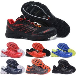 Laboratorio sportivo online-Salomon Shoes Speed Cross S-Lab Men Running Shoes Triple Nero Rosso Outdoor Hiking Jogging Sneakers Scarpe da ginnastica SpeedCross s-lab sports Scarpe da ginnastica