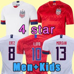 Camisas de futebol de qualidade eua on-line-2019 2020 EUA PULISIC Soccer Jersey 19 20 DEMPSEY BRADLEY Altidore MADEIRA América Futebol jerseys Estados Unidos Camisa qualidade Camisetas Thai
