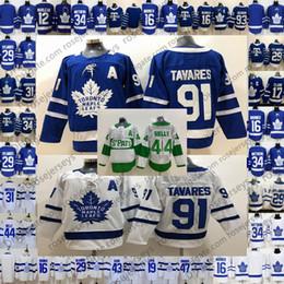 Cheap Toronto Maple Leafs Jersey # 44 Morgan Rielly 4 Tyson Barrie 91 Jason Spezza Stadium Serie St. Pats Green Blue White Hockey da