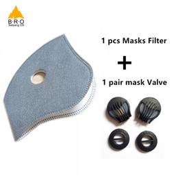 2019 filtros de ar para bicicleta Filtro de Máscara De Carbono ativado para Ciclismo Inverno Máscaras de Bicicleta de Esqui Válvula de 6 Camadas de Polímero de Poeira PM 2.5 Smog Máscara Filtro desconto filtros de ar para bicicleta