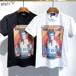 Painel de classificação de cor on-line-2020ss primavera e algodão novo alto grau de verão impressão de manga curta rodada painel pescoço t-shirt Tamanho: m-l-xl-XXL-XXXL Cor: W86 preto branco