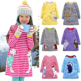 Çocuklar Kızlar Sonbahar Elbiseler 8 Renkler Uzun Kollu Hayvanlar Tavşan Fare Şerit Nokta Baskılı Elbise Çocuklar Giysi Tasarımcısı Kızlar Kıyafetler 18 M-7 T 04 cheap mouse sleeve nereden fare kılıfı tedarikçiler