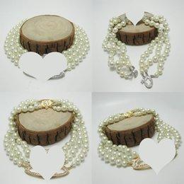 aaa edelstein perlen Rabatt Neue Ankunfts-3 Ebenen Perle Orbit Halskette Frauen Strass Satellite Planet Halskette für Geschenk-Partei-Qualitäts