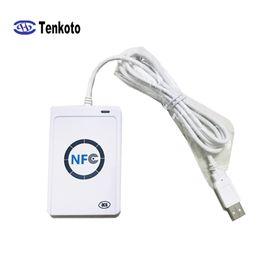 lector de rfid usb Rebajas Lector NFC USB con SDK mayorista escritor de Nueva RFID de control de acceso de Windows 13.56 Mhz Android lector de tarjetas + SDK Desarrollar ACR122U
