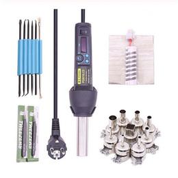 2019 polímeros plásticos PG8018LCD 650 W LCD Eletrônico Ajustável de Calor Pistola de Ar Quente Desoldering Estação De Solda IC SMD BGA + Bico 650 W ventilador de ar Quente