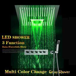 M Boenn 8x12 Brass Rectangle Shower Head Waterfall Showerheads Polished Chrome