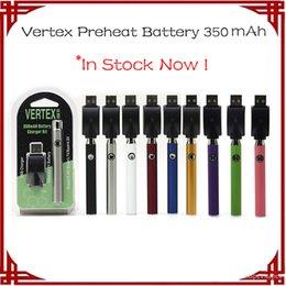 Vertex Batterie Vorheizen Batterie Kits LO VV Batterie Vape Pen 510 Gewinde Vorheizen Batterien 350mAh Verdampfer Elektronische Zigaretten von Fabrikanten