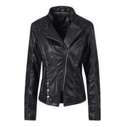Дамы PU кожаные куртки мотоциклетная куртка женская одежда 2019 мода хип-хоп пальто ветровка из искусственной кожи пальто водонепроницаемые топы от Поставщики водонепроницаемый мотоцикл куртка