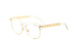 marcos de oro de gafas vintage Rebajas Gafas de sol de calidad superior Gafas de sol Vintage para hombre Marco dorado Gafas de sol Mujeres SGB25
