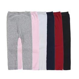 Meias de cor doces on-line-Caçoa meninas Leggings Tights 6 Design Doces Cor Tights Pants Stretch malha Mid cintura algodão quente Meias fundo e calças 2-6T 04