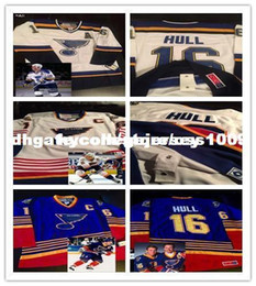 676428fe3 Cheap custom Brett Hull #16 St Louis Blues Vintage White Road Blue Home  1997-98 Season Fight Strap Jersey Stitched Personalize any number