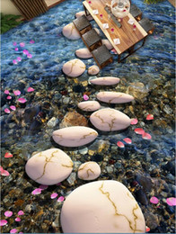 3d Pvc Flooring Custom Photo Stone Path Cobblestone Petals 3d Floor Three Dimensional Painting 3d Wall Murals Wallpaper