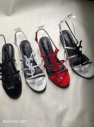 Sandálias de lantejoulas mulheres on-line-2018 novas mulheres lantejoulas sapatos de festa de salto alto verão gladiador sandálias sapatos de casamento glitter de salto alto aberto toe bling sandals35-42-No box