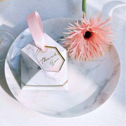 nouveaux cadeaux au chocolat pour bébés Promotion New Diamond Marble style Bonbons Boîte De Bonbons De Mariage Cadeaux Fournitures De Fête Bébé Papier De Douche Cadeau Boîtes De Chocolat pour les invités