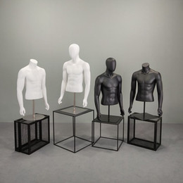 Manichini del corpo superiore online-Vendita diretta della fabbrica del modello del corpo della parte superiore del mezzo del manichino del mezzo maschio di nuovo stile