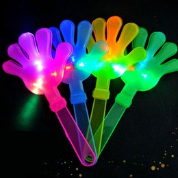 2019 plastikhandklappen Hot blinkt Schöner neue Lollipop LED-Geräusch-Hersteller LED-Blitzen-Hand Klöppel Partei Plastikhand Klöppel mit Licht-Partei-Spielzeug günstig plastikhandklappen